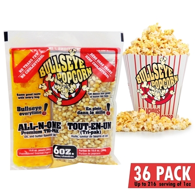 Image sur 70106-Box of 36 prepacked portions of popcorn / 6oz