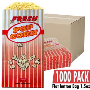 Picture of 70051-Case of 1000 Popcorn bag 1.5oz / Flag bottom
