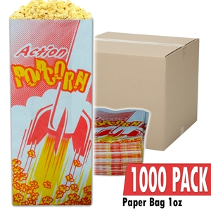 Picture of 70001-Case of 1000 empty 1oz popcorn bags