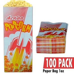 Picture of 70001-100 Case of 100 empty 1oz popcorn bags