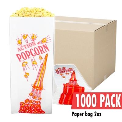 Image sur Caisse de 1000 sacs vides de 2 onces de popcorn