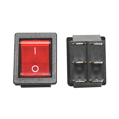 Picture of 71851 - On/Off RED switch 120V / 6 Pins