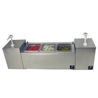 Image sur 5036200S-Paragon Pro-Series Condiment Server with Twin Pumps Combo Unit