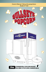 Picture of Instruction Manual for Popcorn machine 20oz #71420