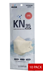 Picture of 109510 - Pack of 10 Respiratory mask N95
