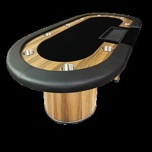 Image de Table octogonale avec contour de bois